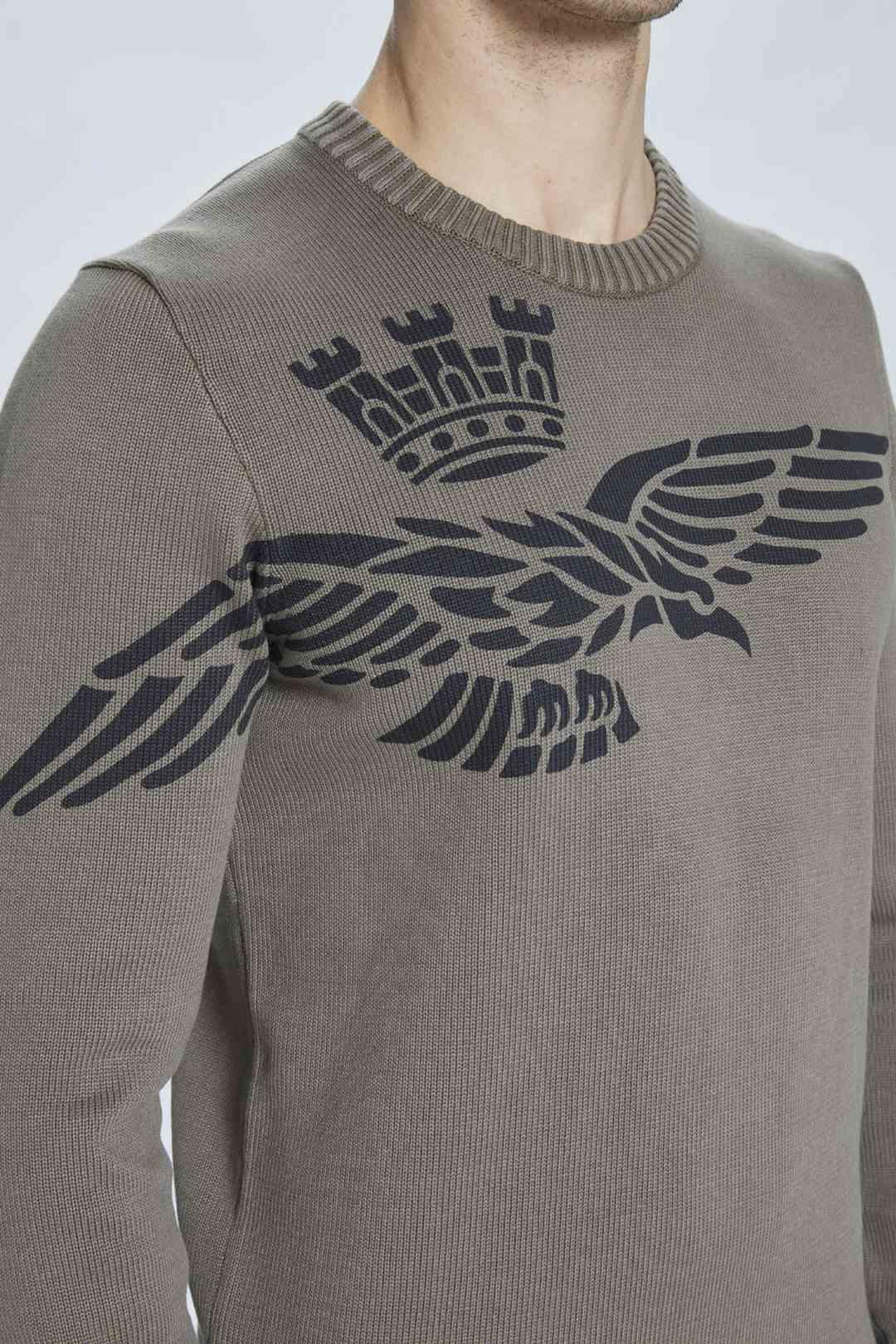 Pullover mit Adler Druck                 5