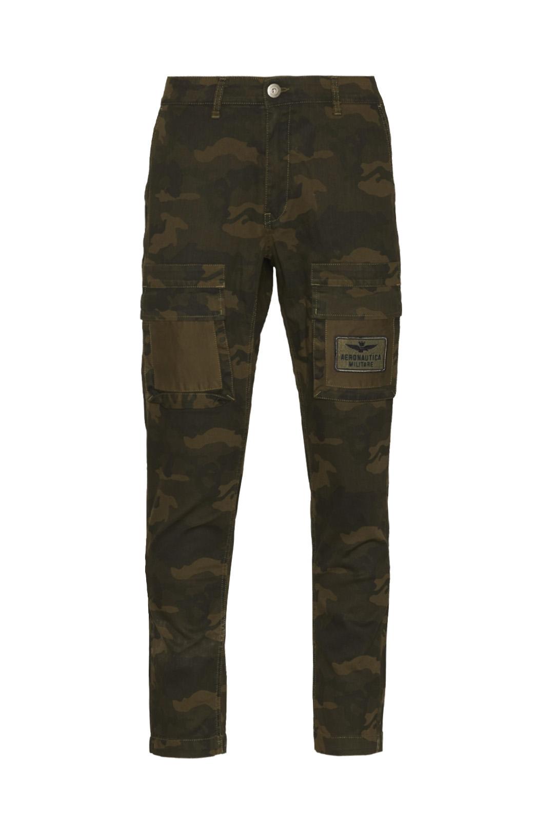 Pantalon multipoches camouflge