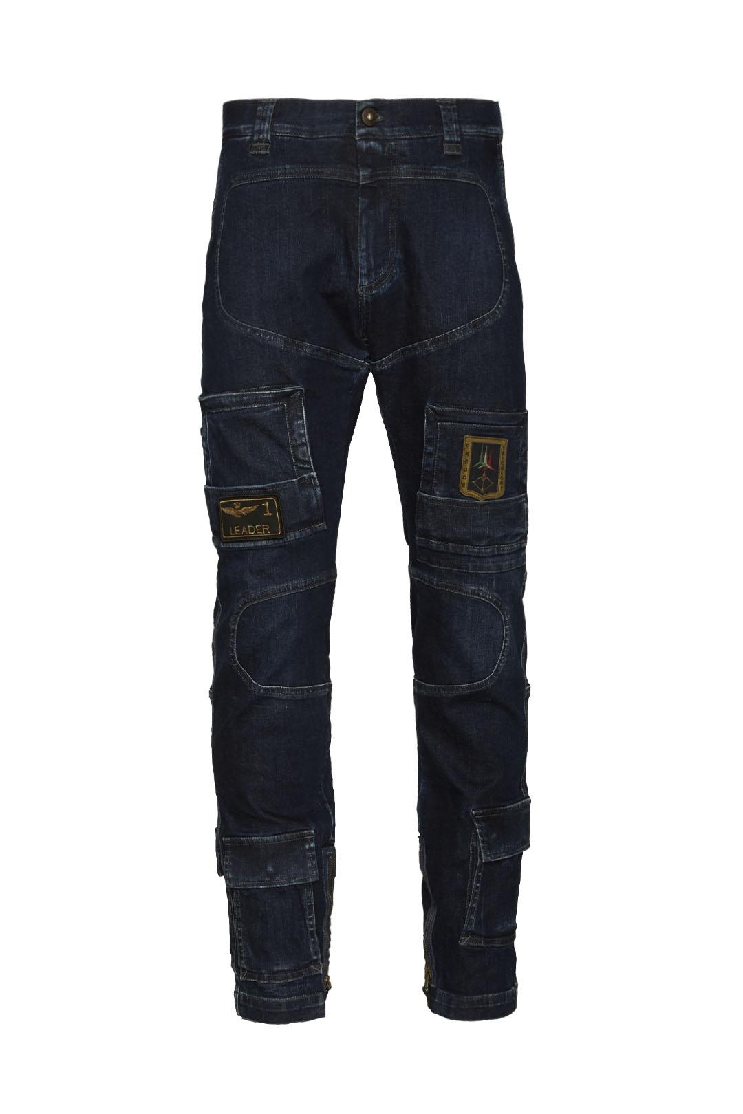 Anti-G trousers in stretch denim