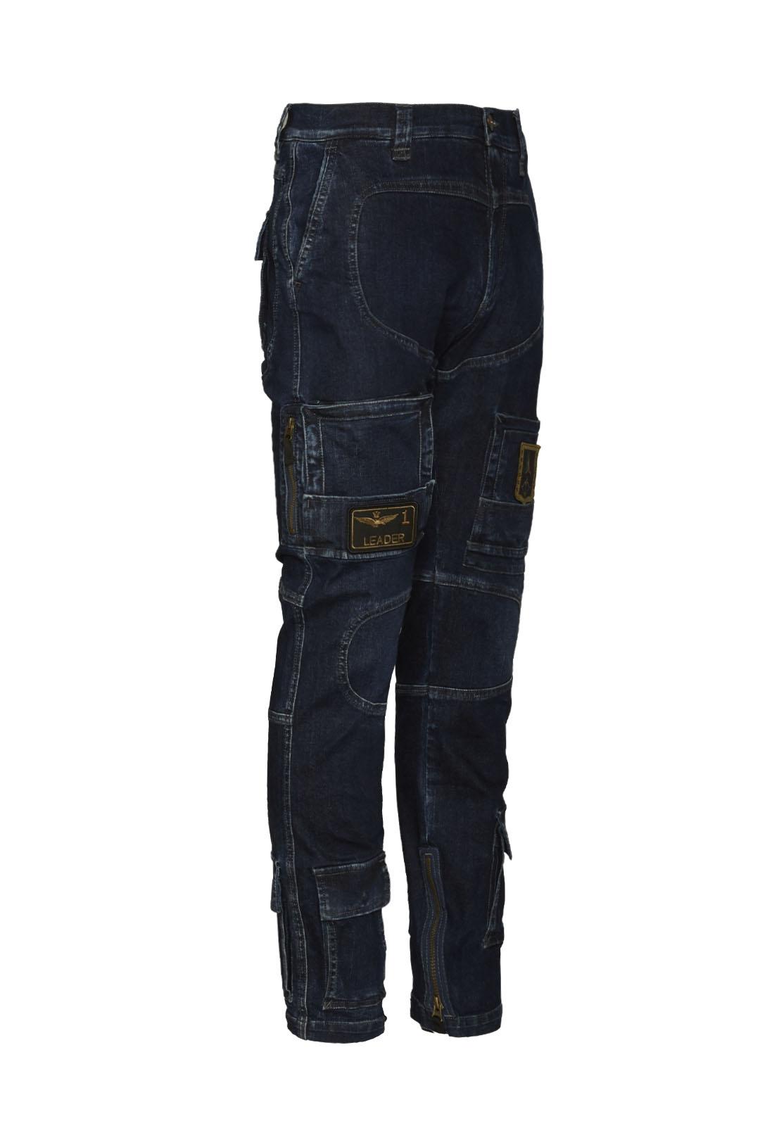 Anti-G Hose aus Stretch Jeans Stoff      3