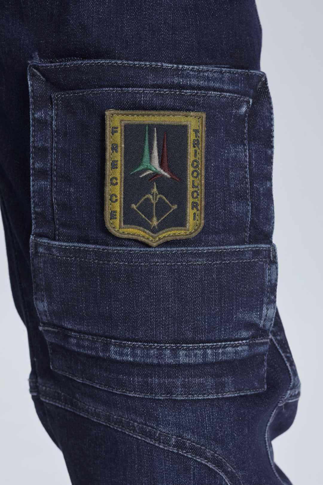 Anti-G Hose aus Stretch Jeans Stoff      5
