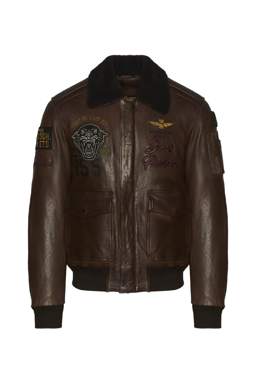 Leather jacket 155 Group Black Panthers  1