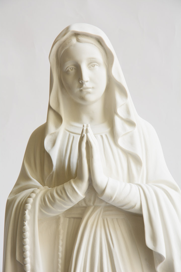Statua Madonna di Lourdes in polvere di marmo cm 85