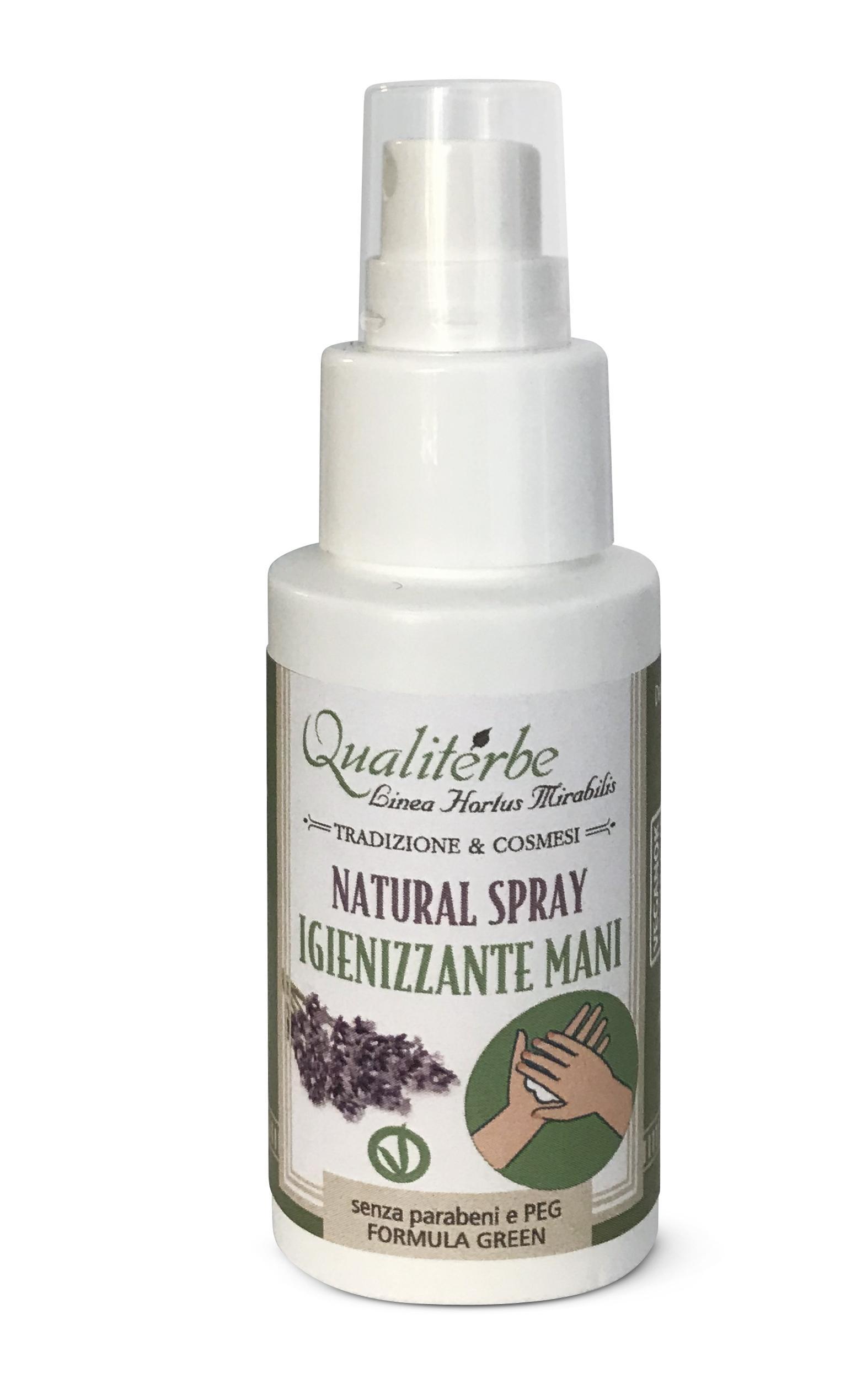 Igienizzante mani Spray 100% Naturale by Qualiterbe