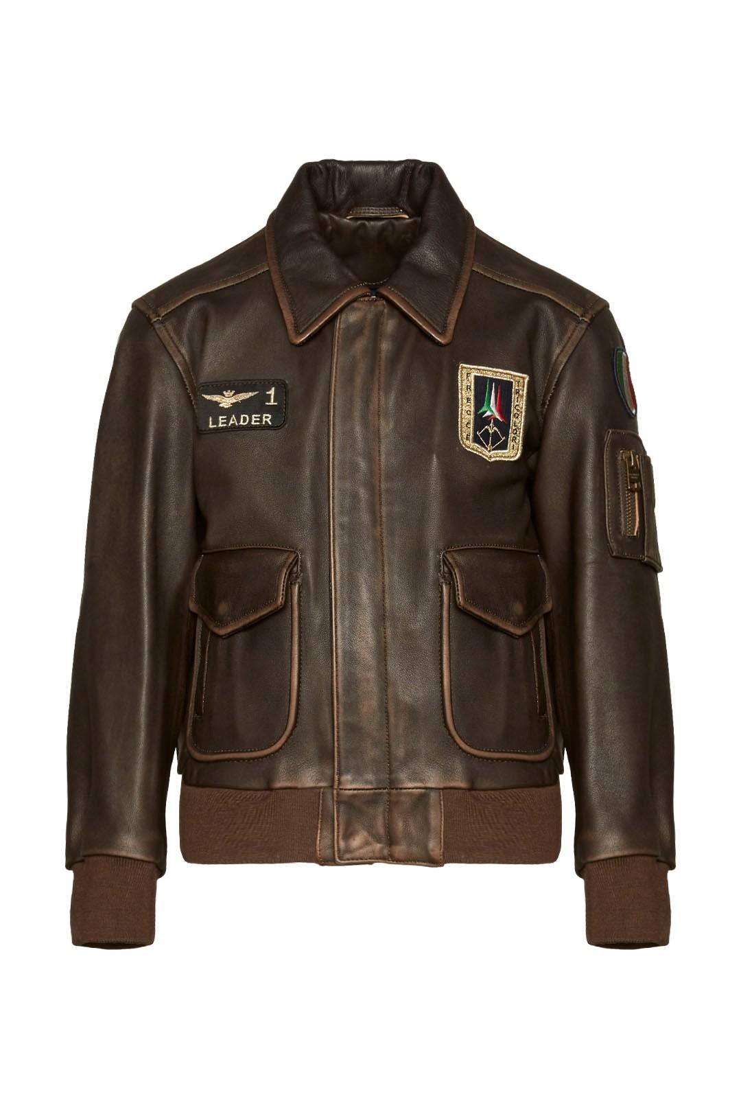 Kids Pilot leather jacket                1