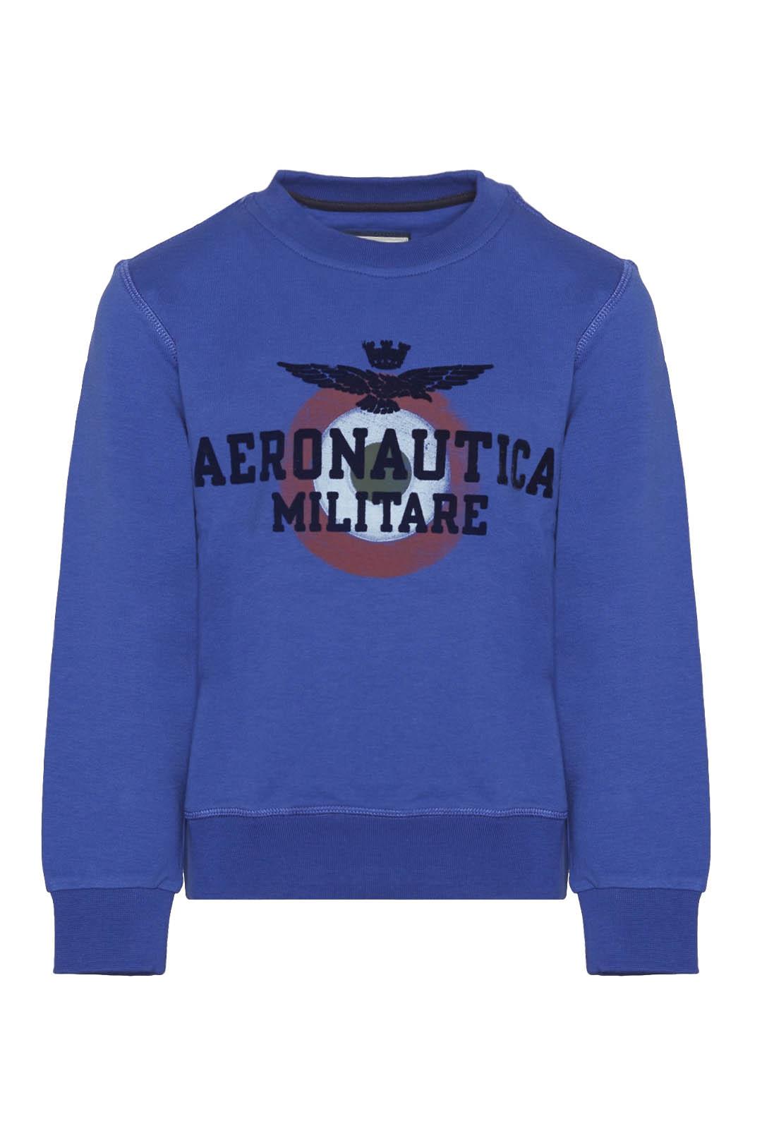 Sweatshirt avec imprimé flock du logo    1