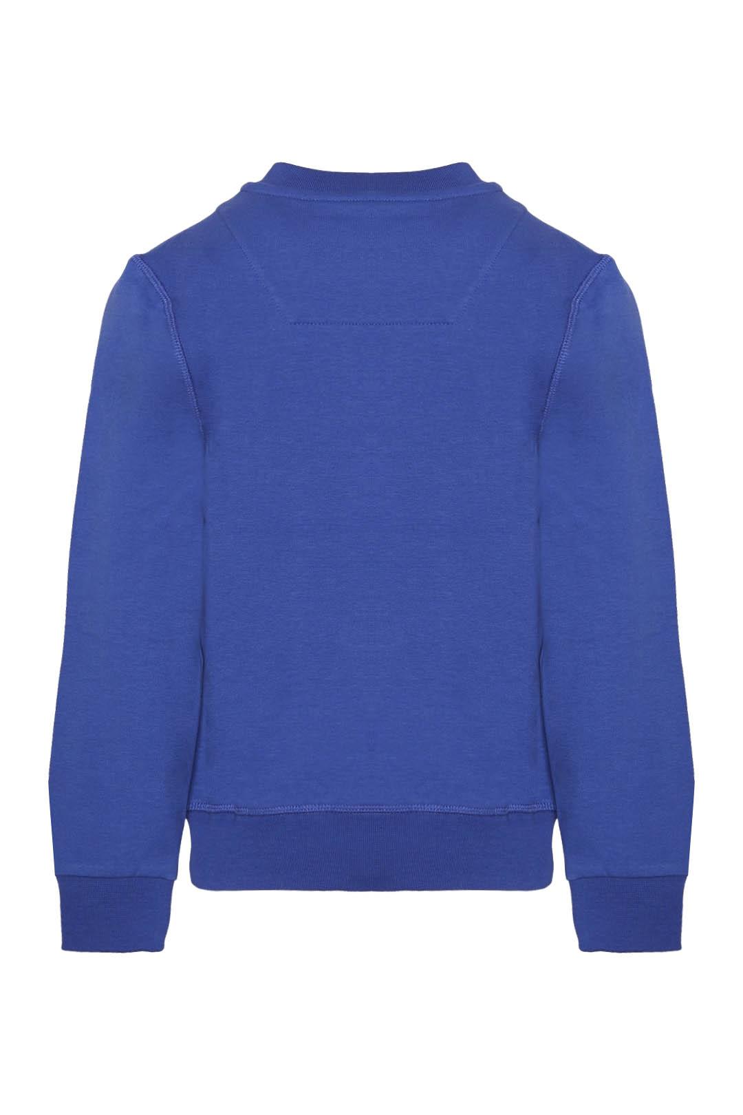 Sweatshirt avec imprimé flock du logo    2
