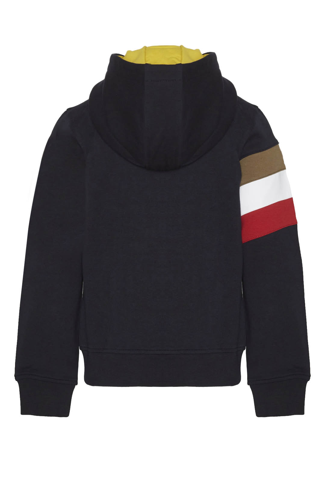 Sweatshirt with tricolor band and hood   2