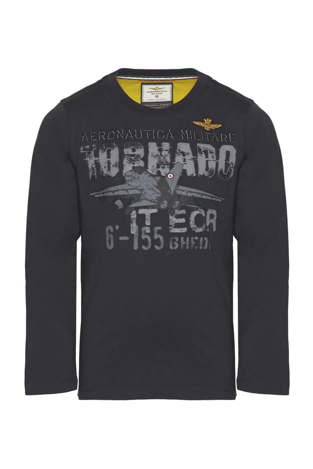 T-shirt in cotone con stampa di aereo    1
