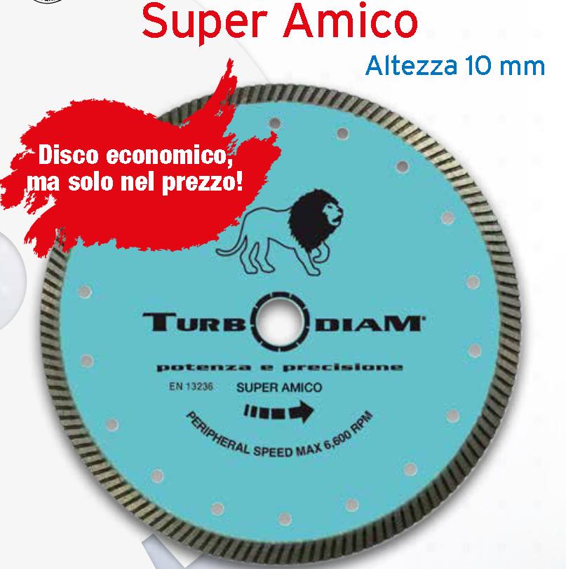 DISCO DIAMANTATO SUPER AMICO DIAM 115 TURBODIAM
