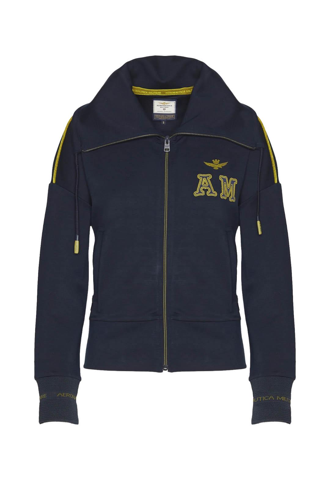 Sweatshirt zippé à col montant           1