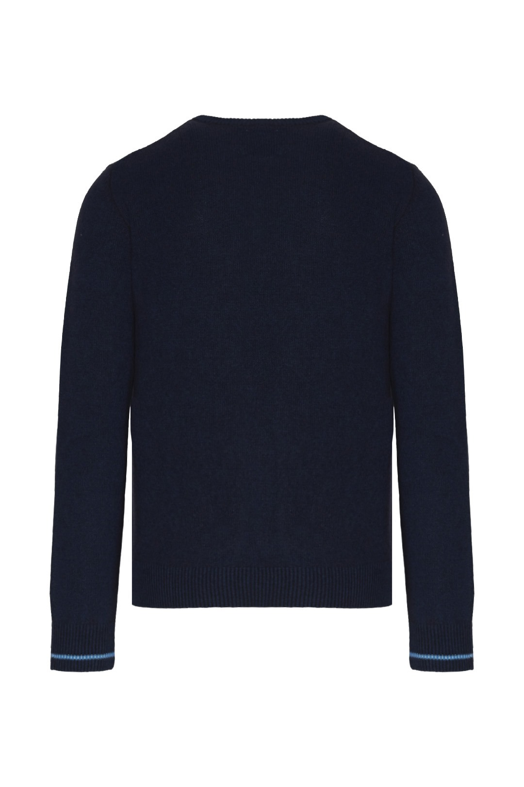 Wool sweater with contrasting logo       2