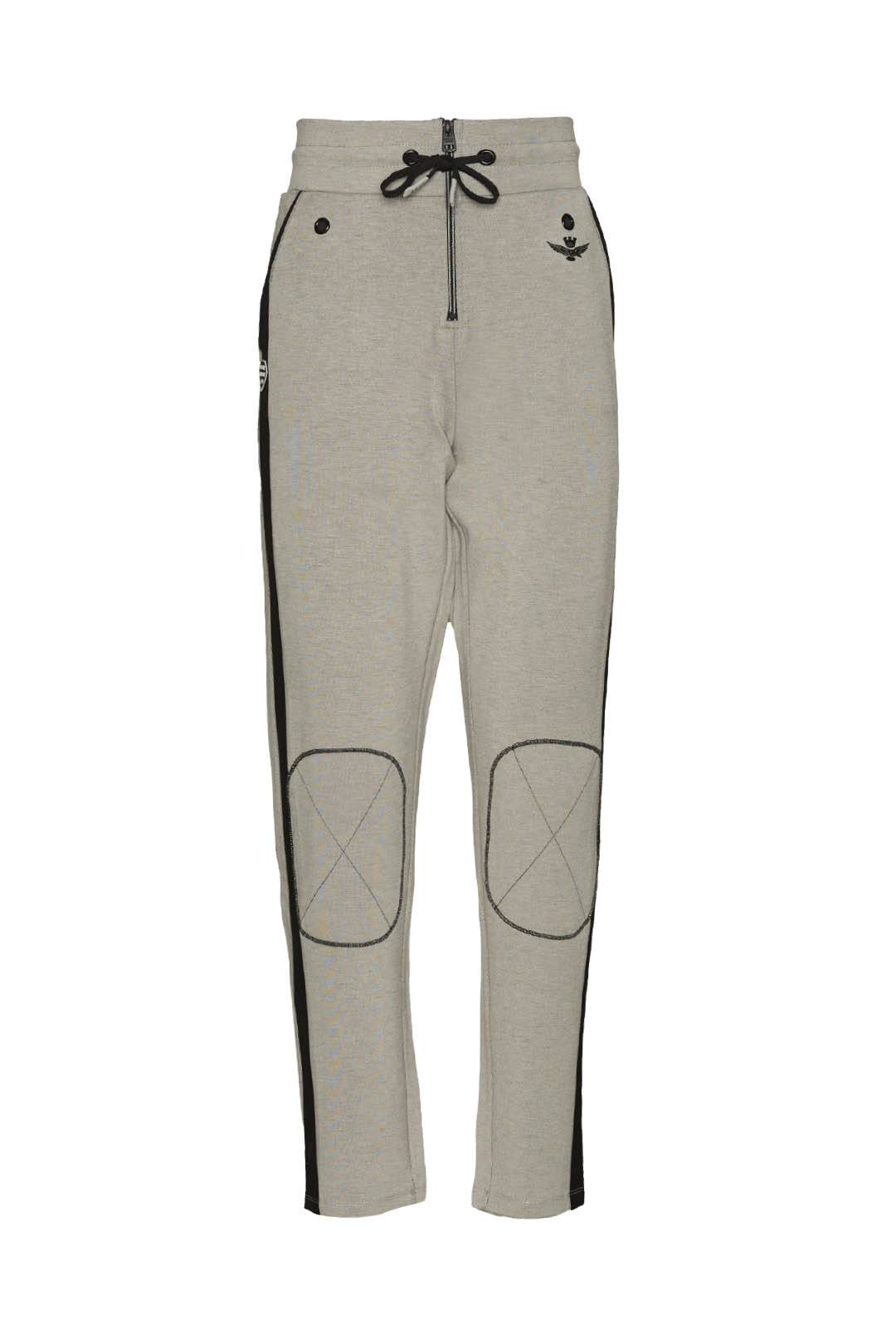 Interlock sweatpants with knees patches  1