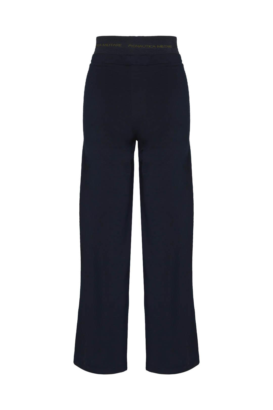 Pantalon en molleton coupe palazzo       2