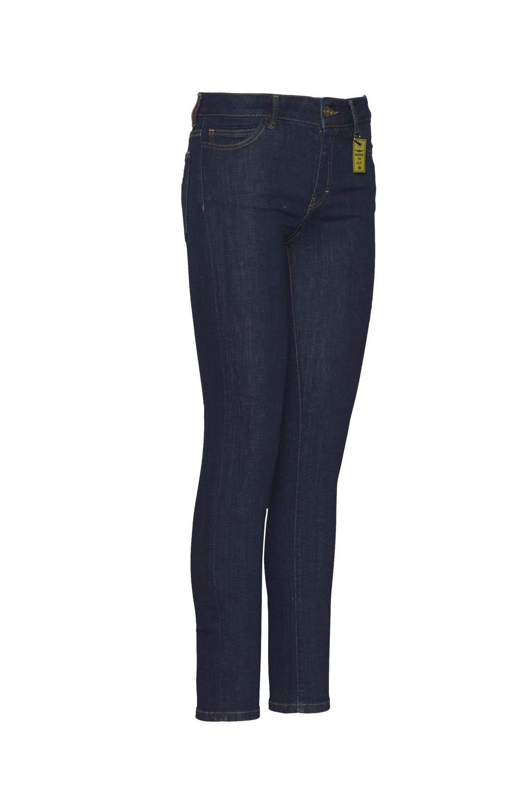Fünf Taschen Jeans aus Stretch Denim     3