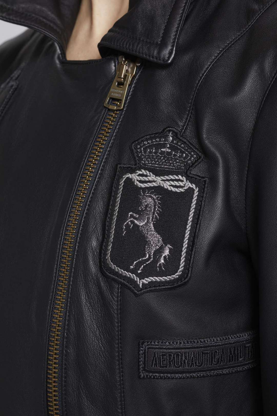Made in Italy Lederjacke mit Patches     6