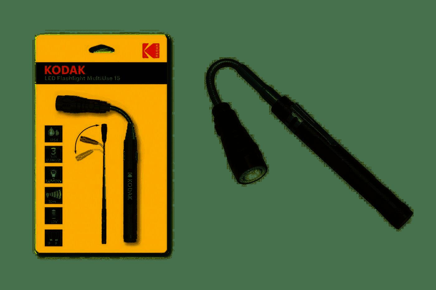 Torcia Kodak 3 LED multiuso 15 lumens 0.6W Penna allungabile flessibile