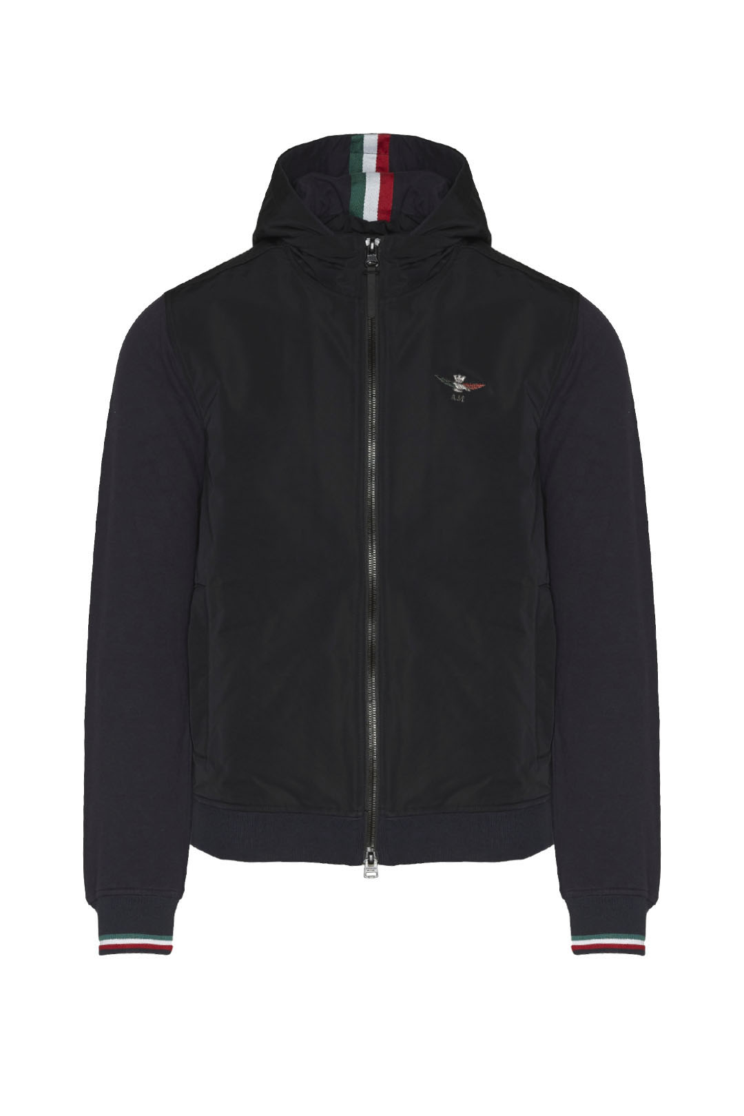 Jacke mit Kapuze aus Fleece und Nylon    1