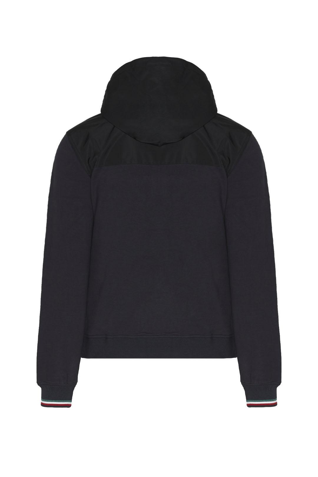 Jacke mit Kapuze aus Fleece und Nylon    2
