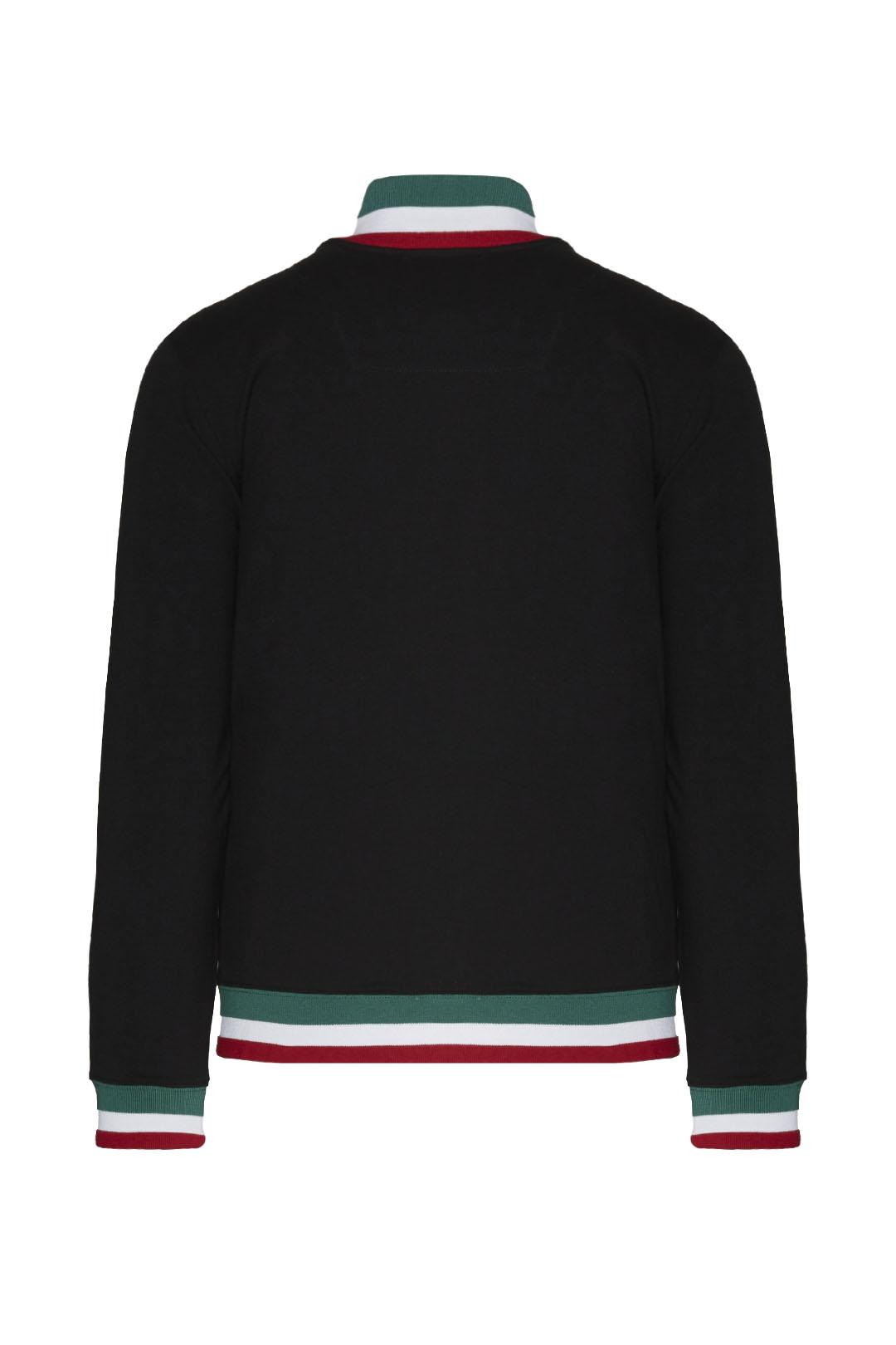 Fullzip cotton sweatshirt with tricolor  2