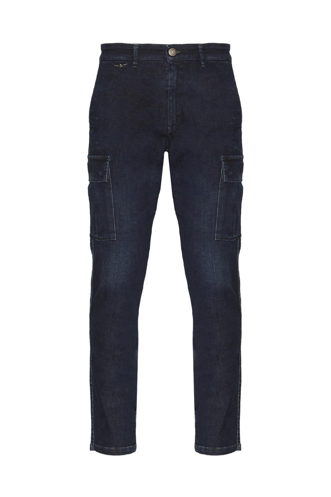 Cargohose aus Stretch Jeans              1