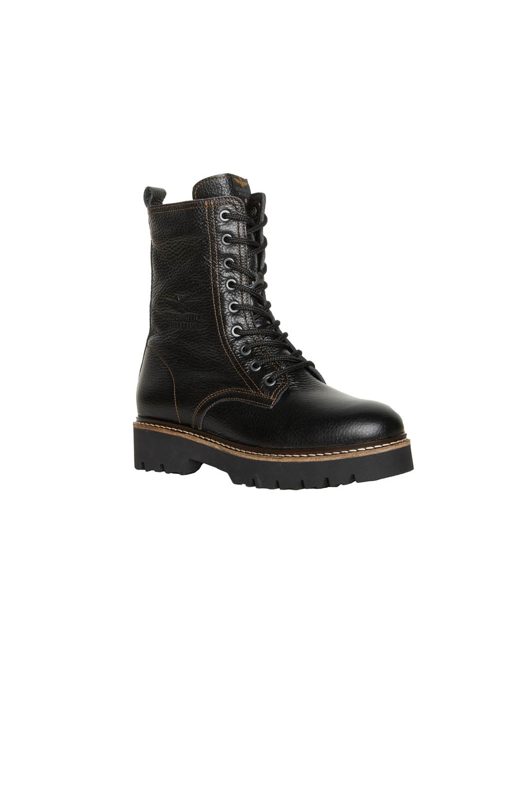 Leather Combat boots lined in pure wool  1