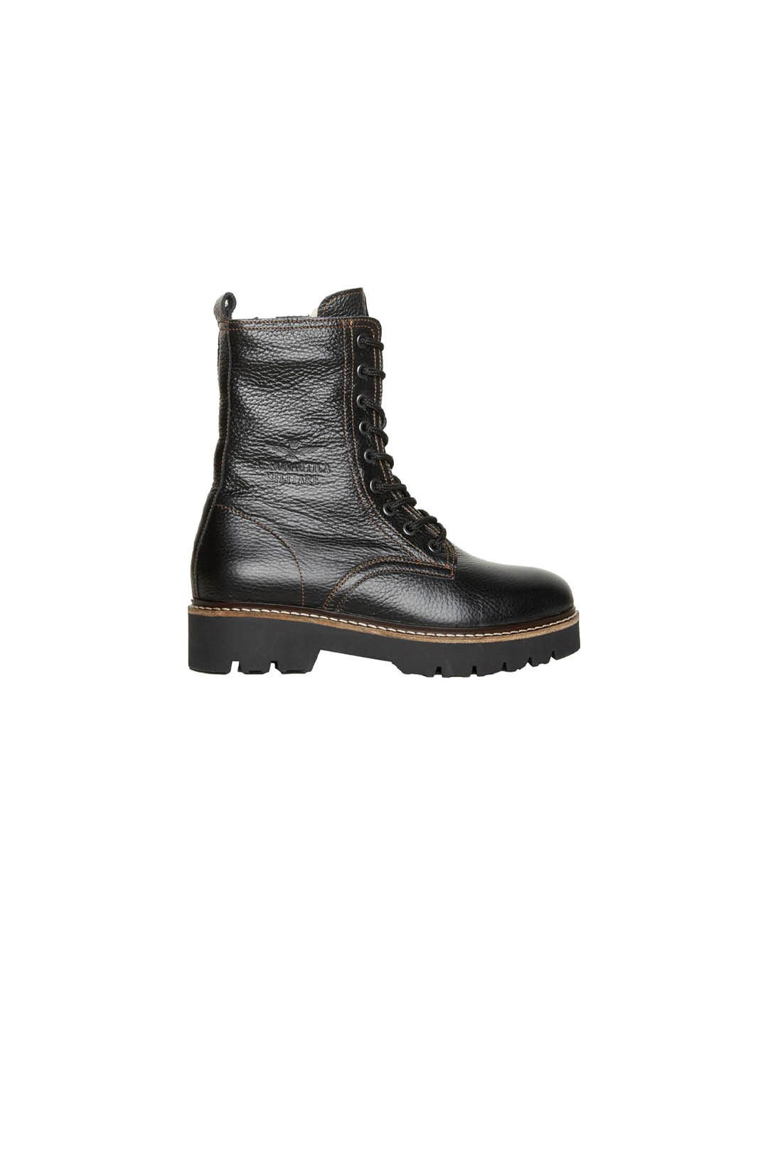 Leather Combat boots lined in pure wool  2