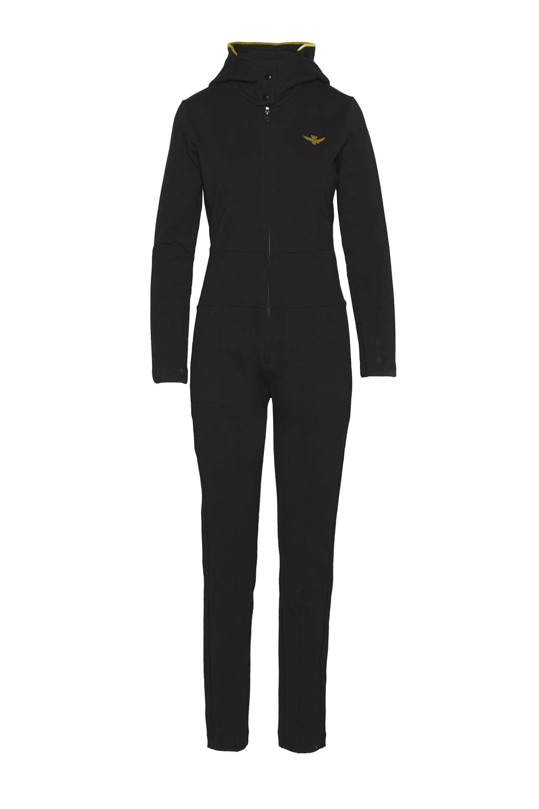 Hooded stretch cotton jumpsuit           1