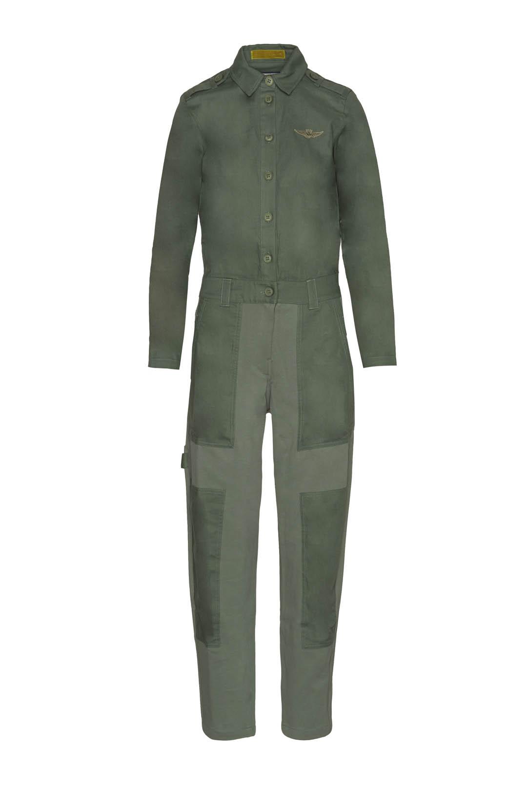 Milan stitch jumpsuit in cotton gabardie 1