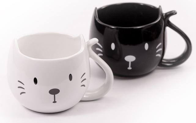 Tazza Muso Gatto Nero o Bianco