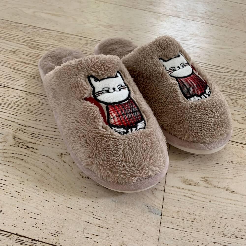Ciabattina gatto con maglione 37-38