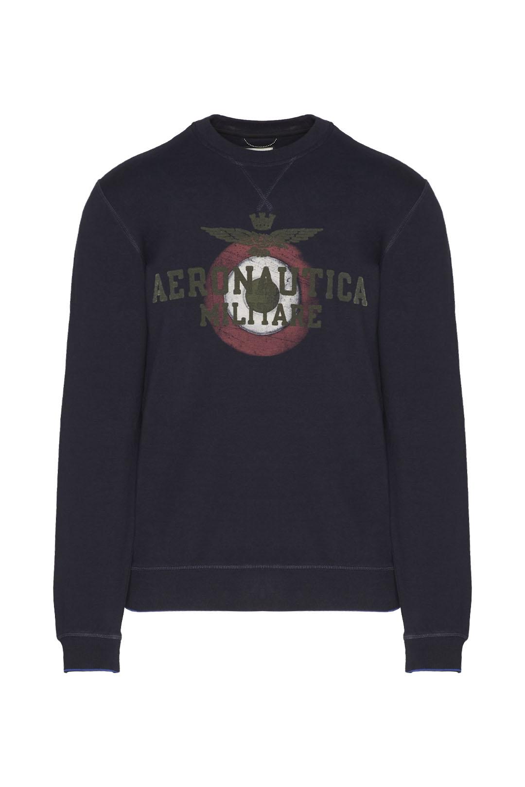 Sweatshirt with flock print logo         1