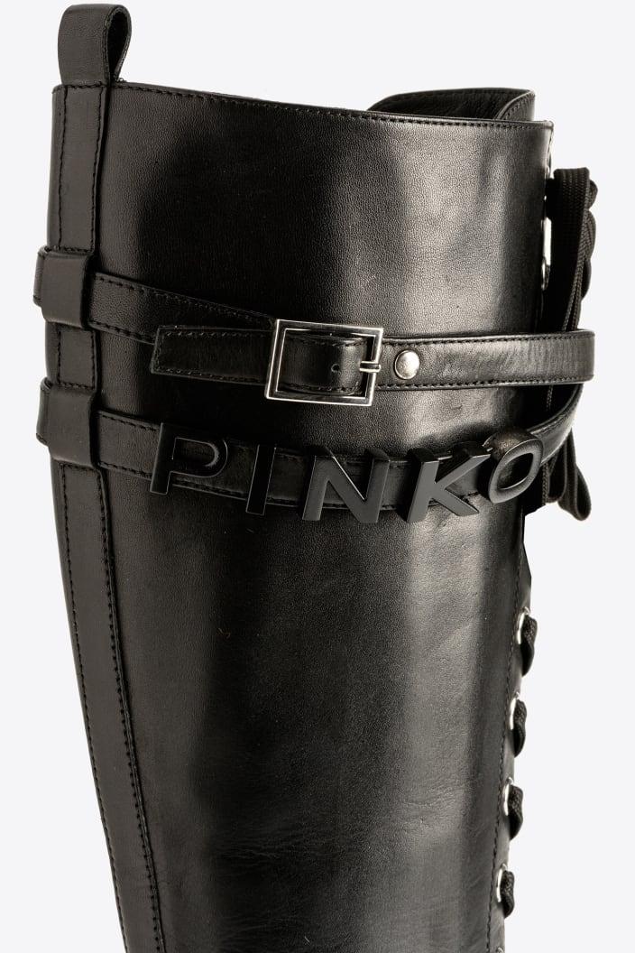 SHOPPING ON LINE PINKO ANFIBI ALTI CON CINTURINO RIO LARGO NEW COLLECTION WOMEN'S FALL/WINTER 2022