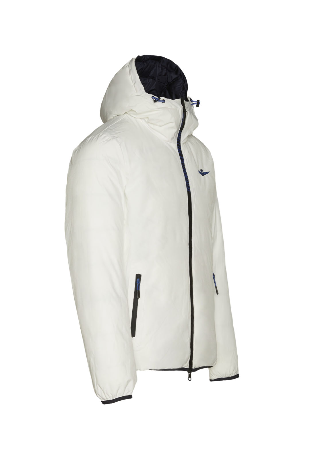 Reversible short down jacket with hood   6