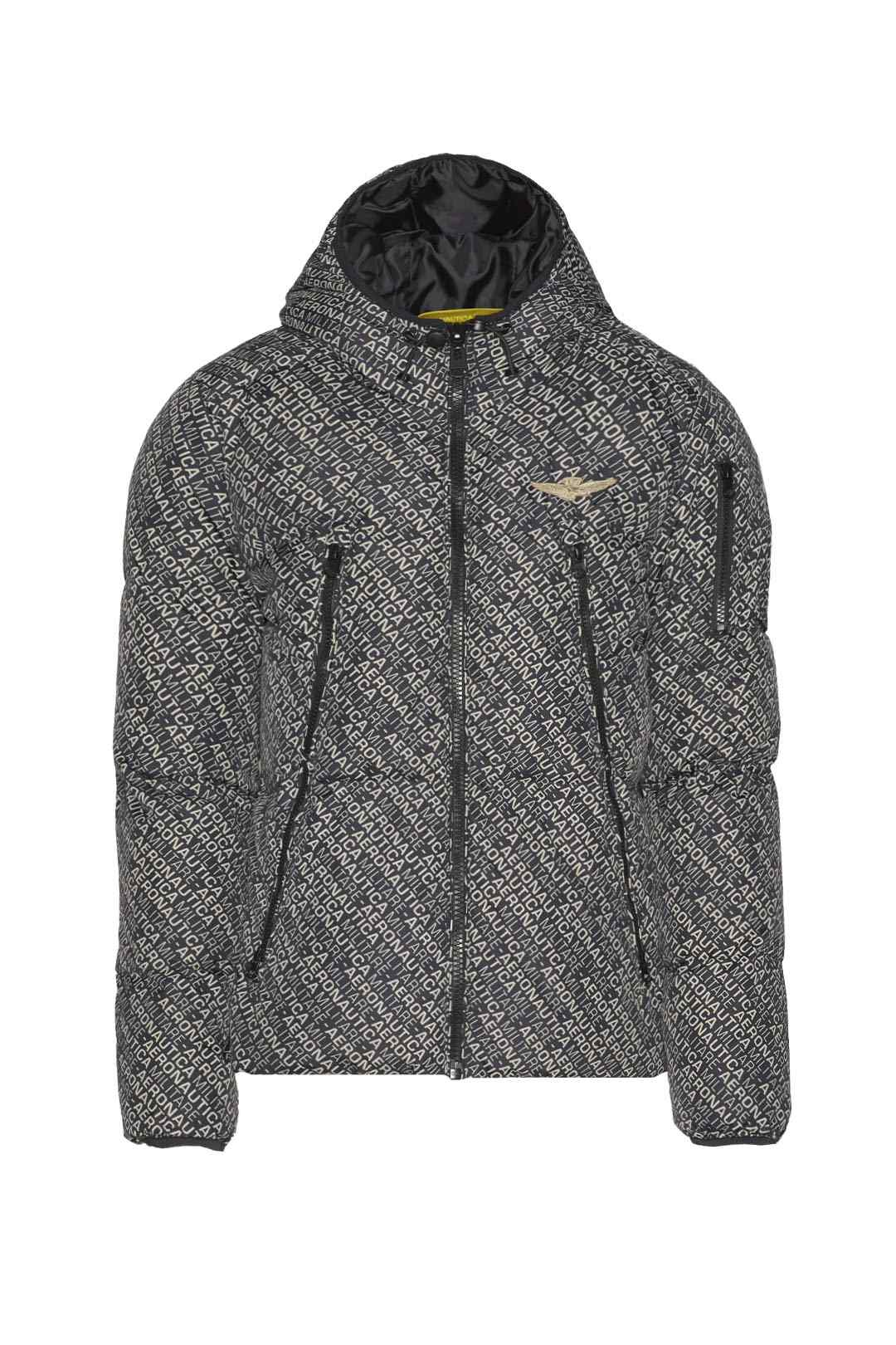 Real feather hooded down jacket          1