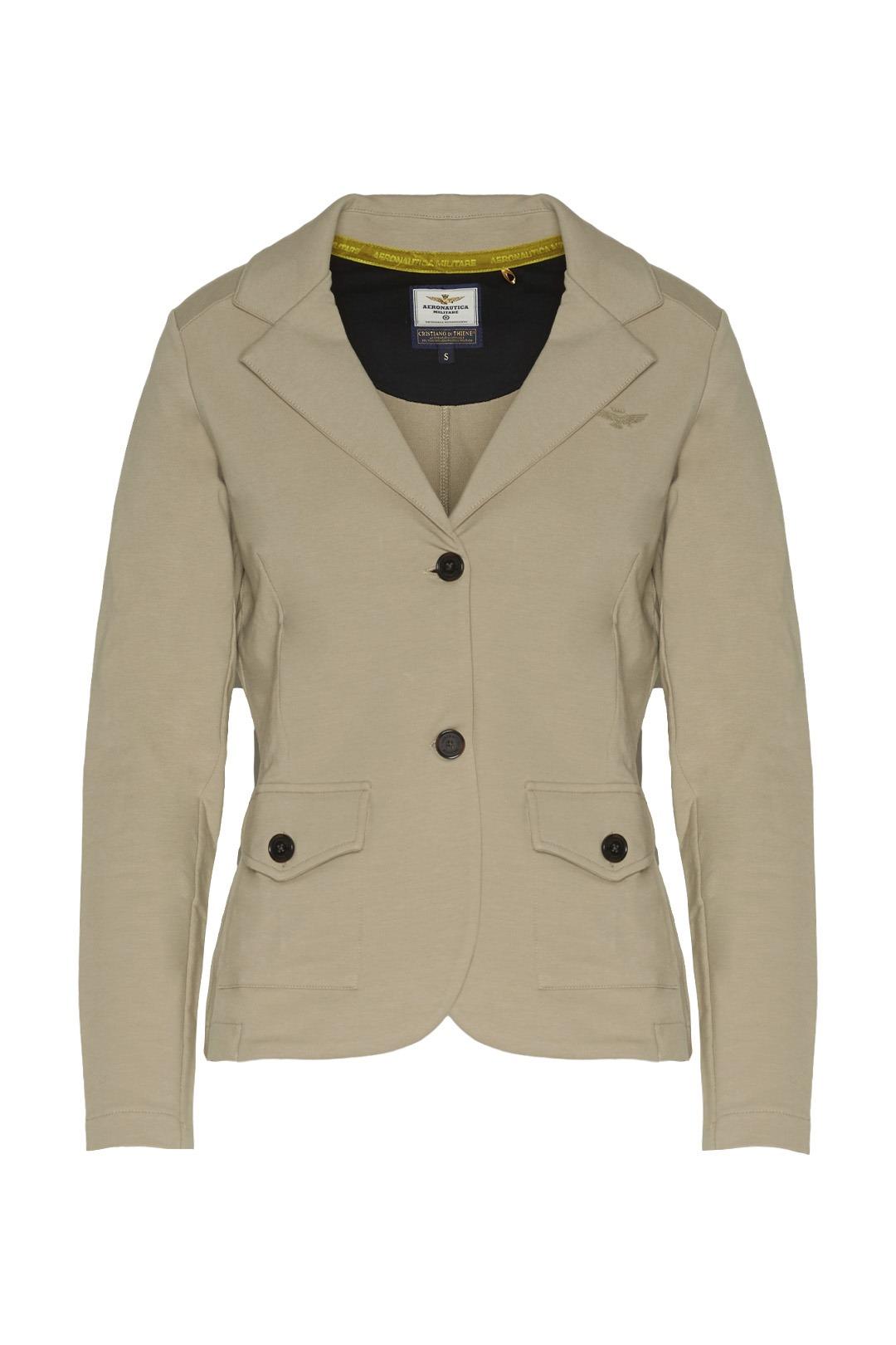 Light fleece blazer with buttons