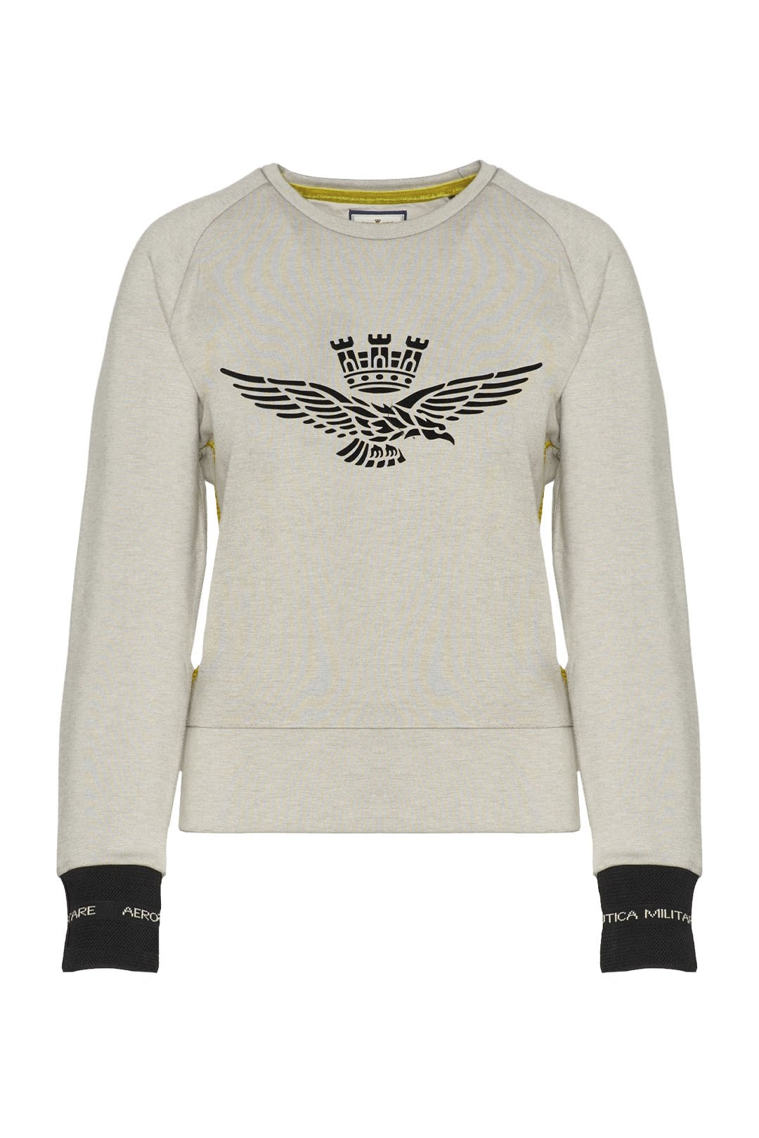 Sweatshirt en interlock à col rond