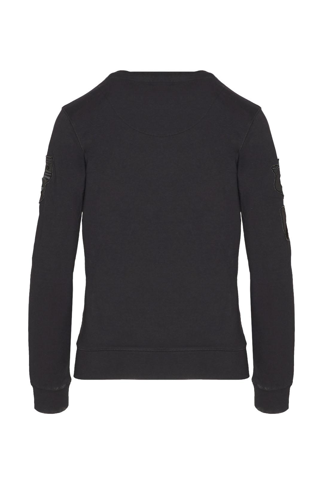 Sweatshirt multipatch à col rond         2
