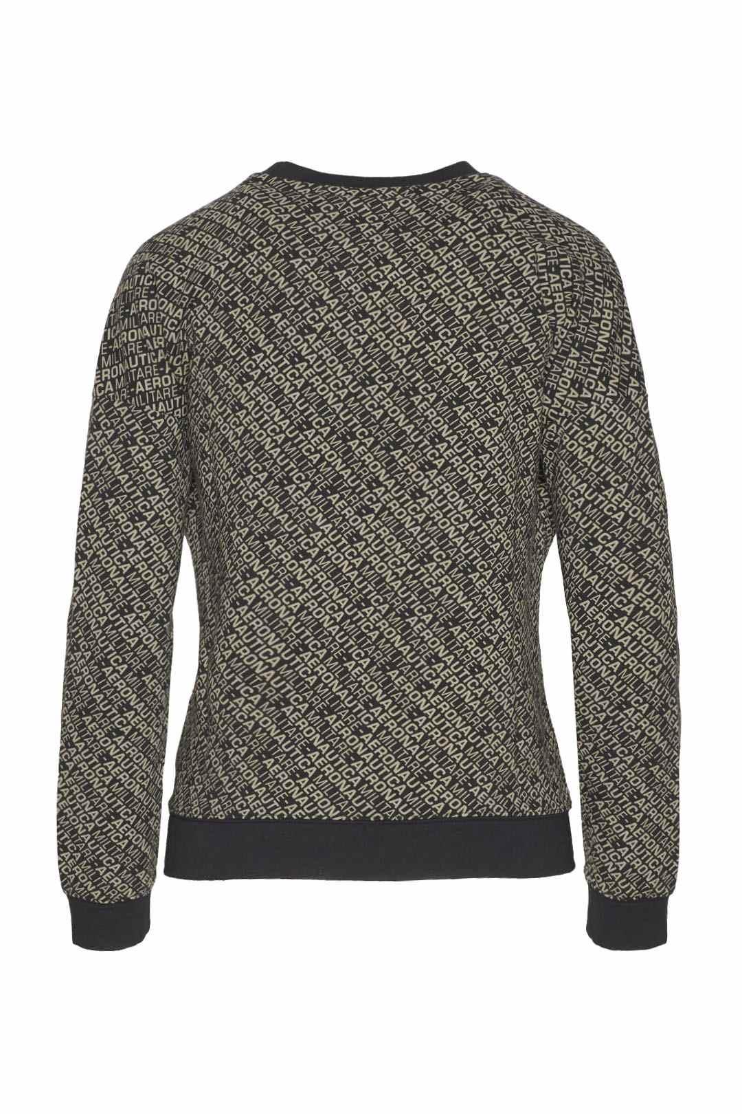 Crew neck sweatshirt with all-over print 2