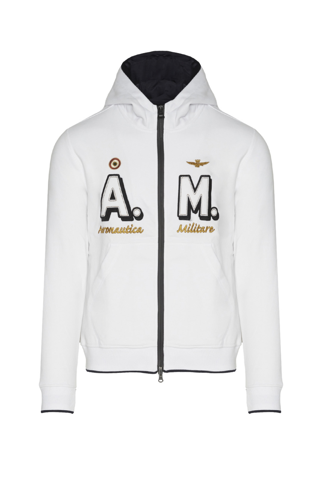 Iconic gauzed cotton AM hoodie           1