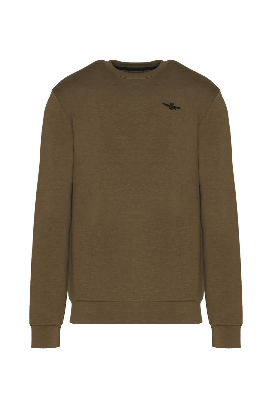 Sweatshirt à col rond en interlock