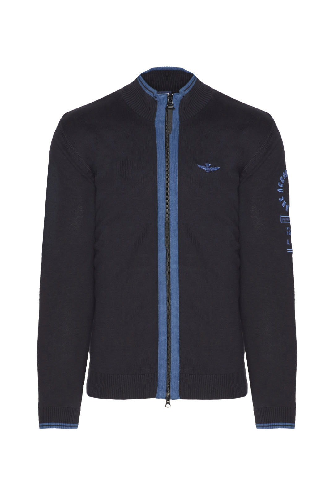 Fullzip sweater with contrasting details 1