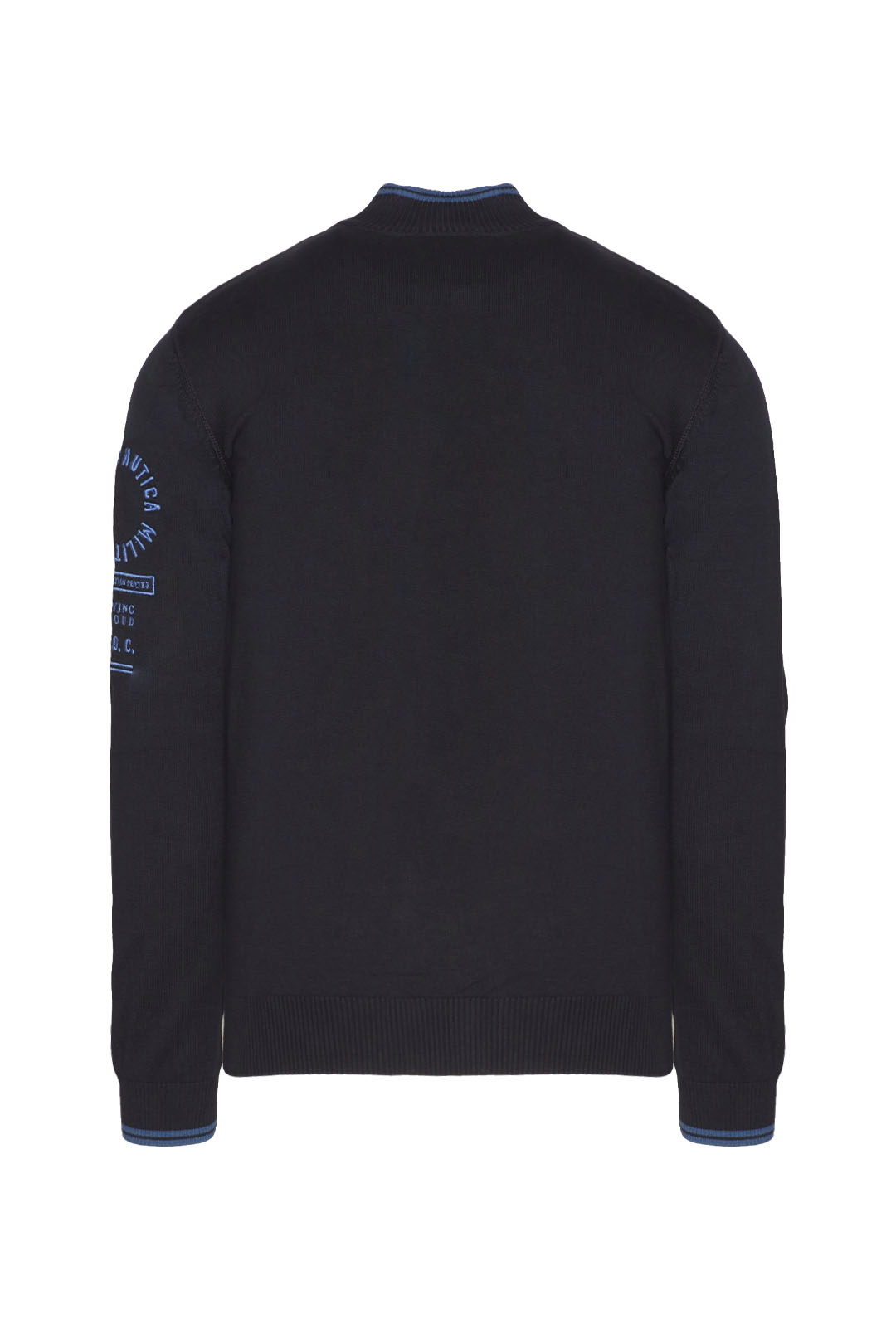 Fullzip sweater with contrasting details 2