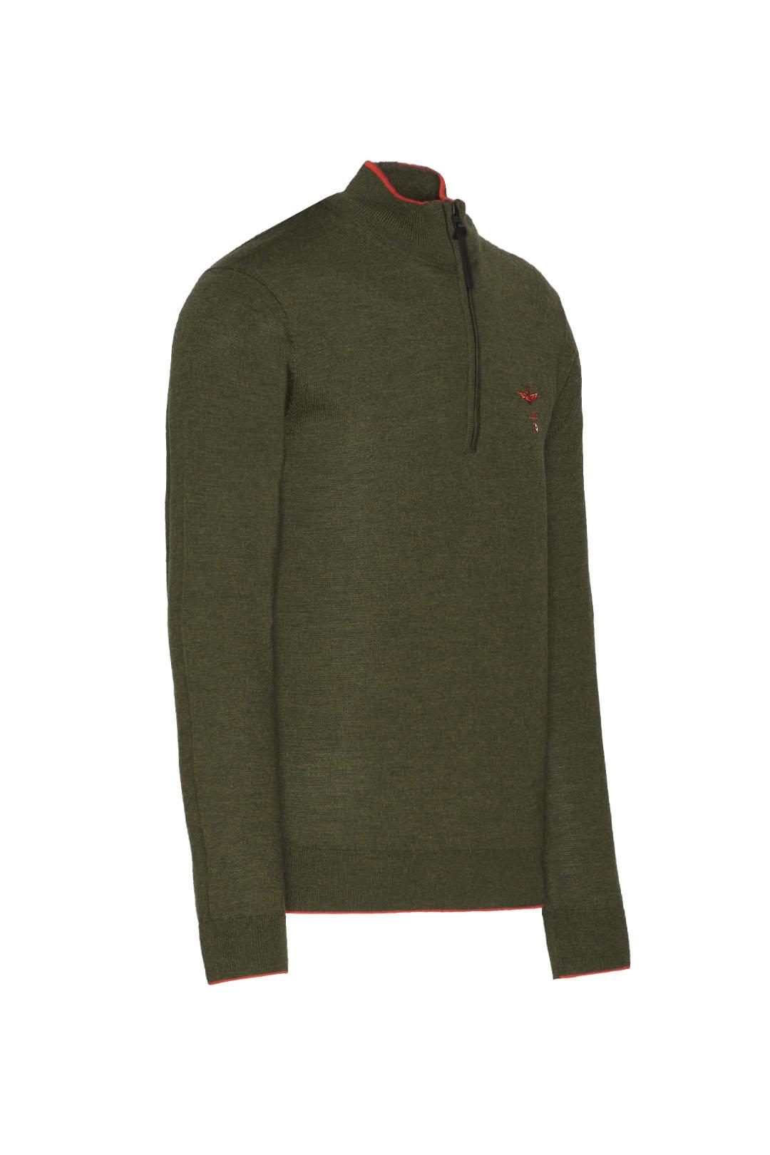 Pullover aus Merino Wolle                3