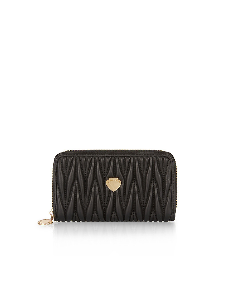 SHOPPING ON LINE LE PANDORINE CRIS WALLET TACCHI BLACK NEW COLLECTION WOMEN'S FALL/WINTER 2022