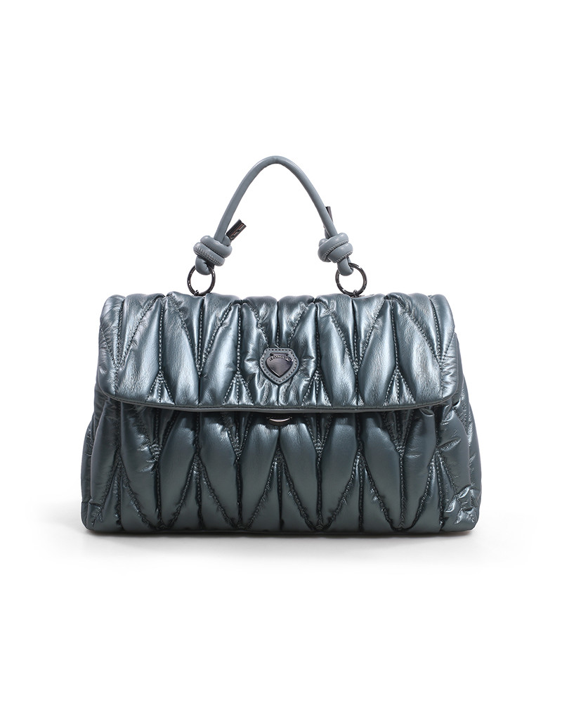 SHOPPING ON LINE LE PANDORINE CLAUDIA BAG RIBELLI GREEN SAGE NEW COLLECTION WOMEN'S FALL/WINTER 2022