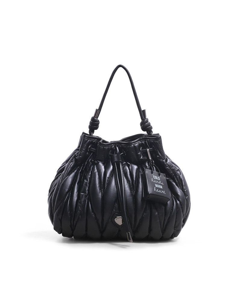 SHOPPING ON LINE LE PANDORINE CLAUDIA BUCKET HEART BLACK NEW COLLECTION WOMEN'S FALL/WINTER 2022