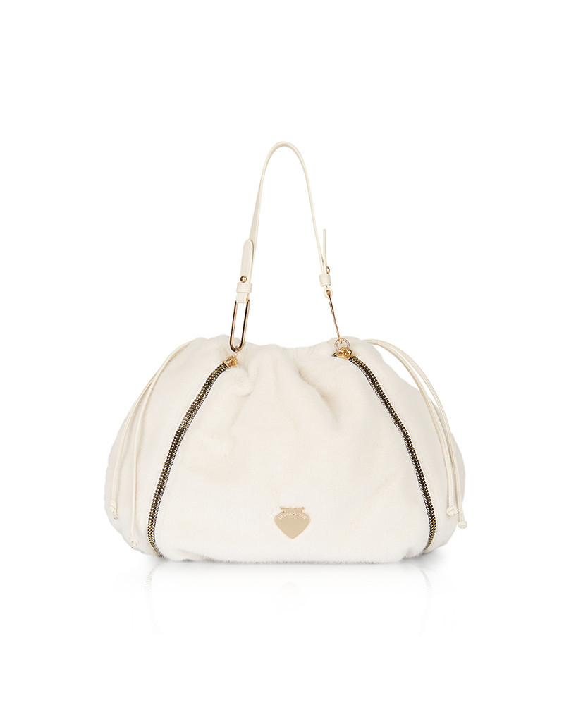 SHOPPING ON LINE LE PANDORINE VICKY BUCKET VITA FUR OFFWHITE NEW COLLECTION WOMEN'S FALL/WINTER 2022