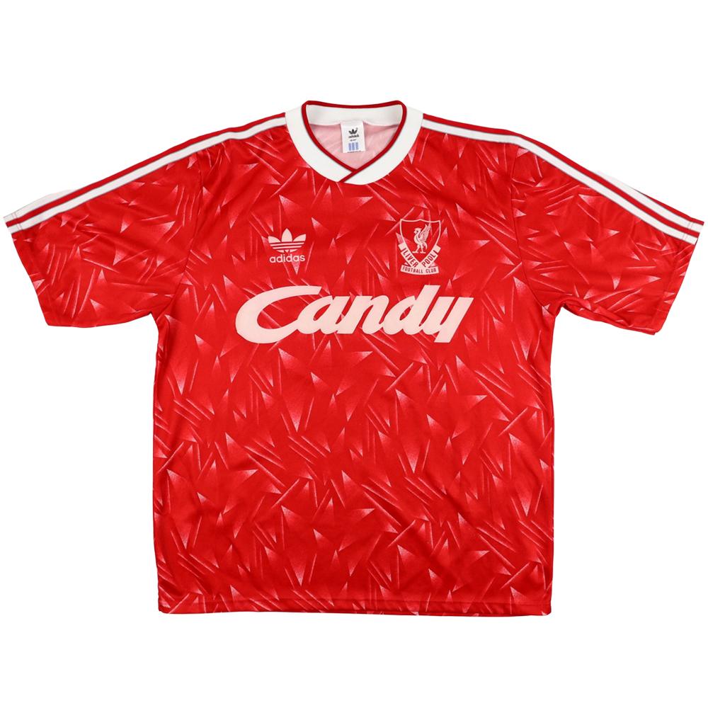 1989-91 Liverpool Maglia Home #10 L (Top)