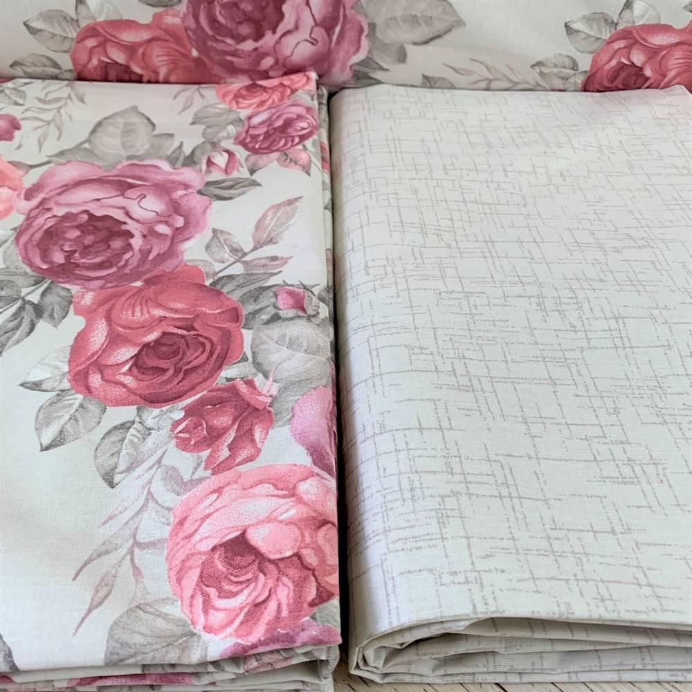 Lenzuola flanella Peonie rosa singolo
